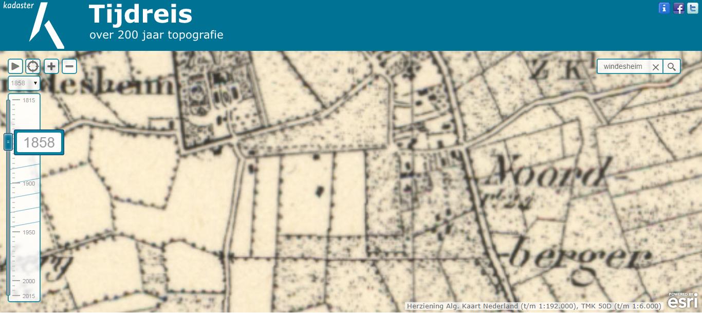 Topokaart_Windesheim_1858
